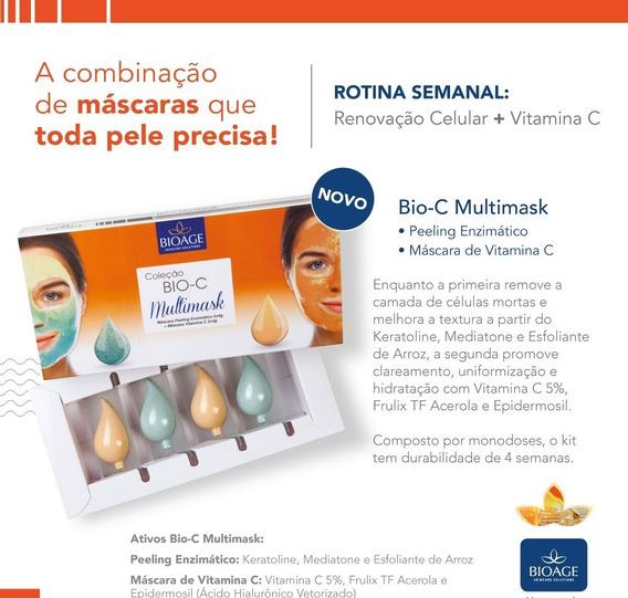 Peeling Enzimático E Mascara Clareadora De Vitamina C