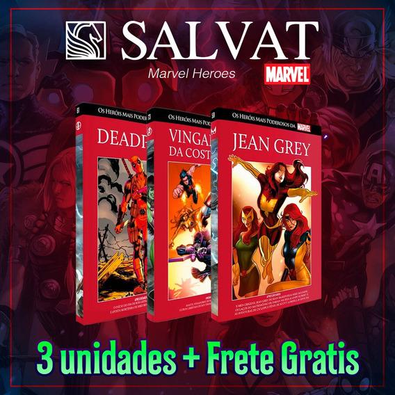 Kit Marvel 3 Salvat Capa Vermelha