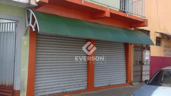 Salão Comercial Ótima Localização Para Alugar, 60 M² Por R$ 800/mês - Jardim Cherveson - Rio Claro/sp - Sl0054