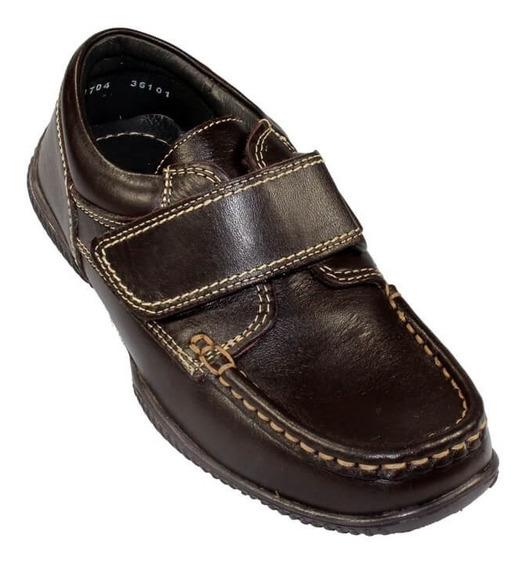 Zapato Escolar Colegial Mocasín Coqueta Niño Piel 36101