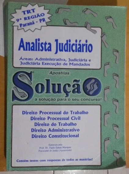 Analista Judiciário Trt 9ª Região Pr Apostilas Solução