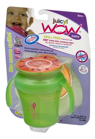 Vaso Wow Cup® Antiderrame 360° Para Bebes Con Asas Mas Tapa