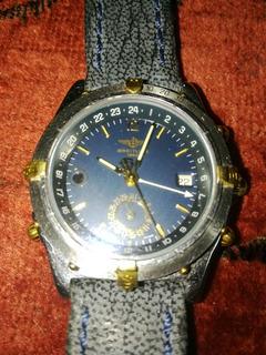 Reloj Breiling Original Doble Uso Orario Modelo Calisto