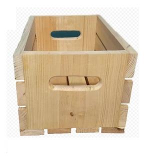 Huacal Caja Mediano De Madera Reforzado De Uso Rudo