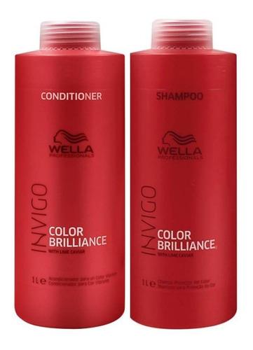 Imagem 1 de 3 de Wella Brilliance Invigo Shampoo + Condicionador Litro