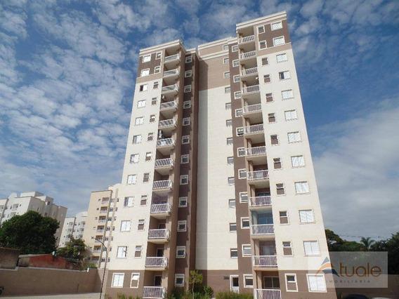 Apartamento 2 Dormitórios À Venda No Residencial Jardim Botânico, 58 M² Por R$ 248.000 - Jardim Adelaide - Hortolândia/sp - Ap6650