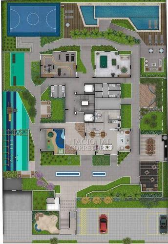 Imagem 1 de 30 de Apartamento Com 2 Dormitórios À Venda, 56 M² Por R$ 390.000,00 - Campestre - Santo André/sp - Ap12263