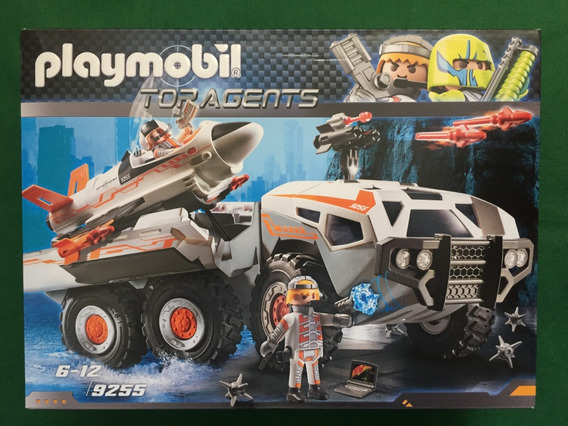 Playmobil 9255 Caminhão De Batalha Spy Team Top Agents