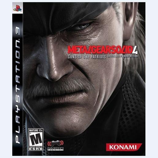 Jogo Ps3 Metal Gear Solid 4 (usado) Midia Fisica