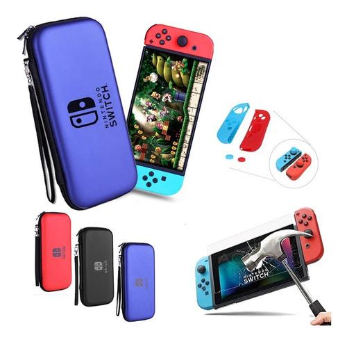 Estuche P Nintendo Switch + Protecor P Joystick + Mica  9h