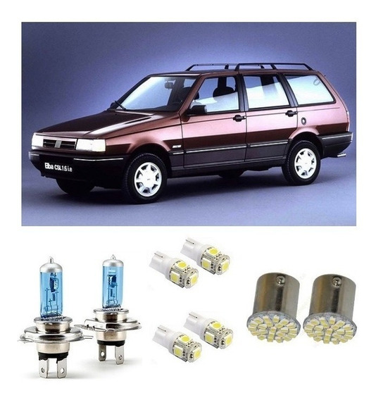 Kit 8 Lampadas Farol + Lanternas Placa +ré Fiat Elba 86 A 96