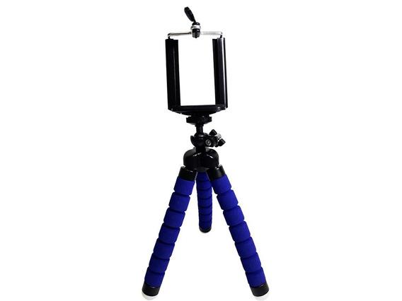 Mini Tripé Flexível Câmeras E Celulares Dobrável Colorido