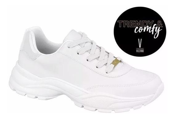 Tênis Feminino Chunky Sneaker Vizzano Branco 1331.101