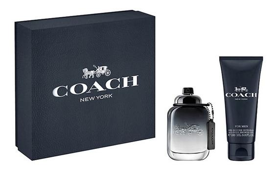 Kit Perfume Coach For Men Edt 60ml + Gel De Banho 60ml
