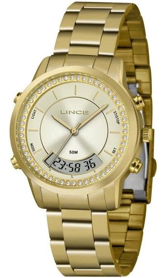 Relógio Feinino Anadigi Lince Orient Lag4640l C1kx Original