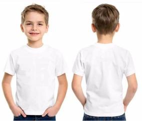 Camiseta Infantil Branca Básica Lisa 100% Algodão Tam 2-10
