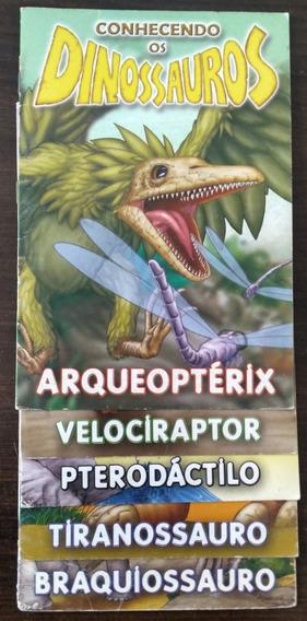 Coleção De 5 Livrinhos Infantis - Conhecendo Os Dinossauros