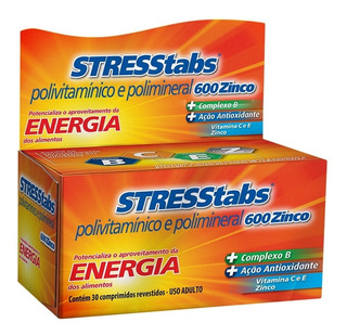 Stresstabs 600 Zinco Com 30 Comprimidos