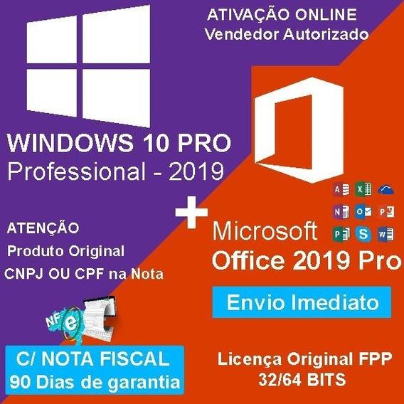 10 Licenças Windows 10 Pro + Office 2016 Pro Chave Download + Nfs