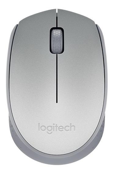 Mouse Logitech M170 Sem Fio Prata Original Com Nfe