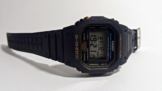 Casio G-shock Dw-5600 Série Ouro - Caixa De Aço