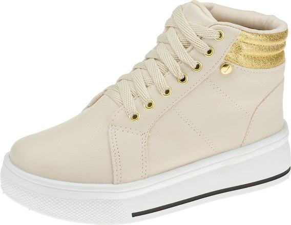 Tênis Casual Feminino Sneaker Infantil Cadarço Flatform