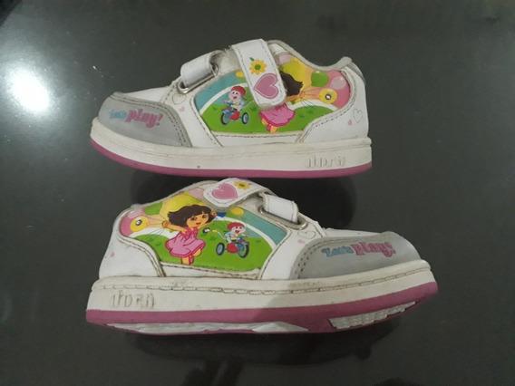 Zapatillas Dora La Exploradora Con Luz