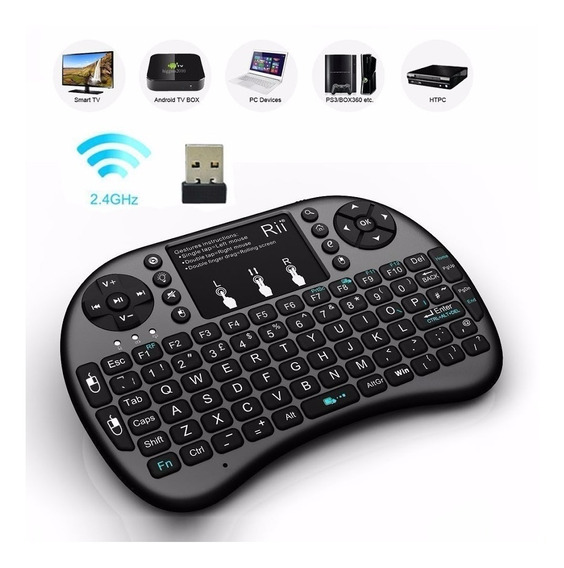 Mini Teclado Smart Tv Box Touch Pad Universal Usb Key Game