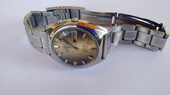 Relógio Orient Automático Marom Degradê Raro Perfeito