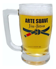 Caneca De Chopp De Vidro Arte Suave Jiu-jitsu (340ml)