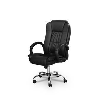 Cadeira Presidente Escritório Preta Relax Padrão By-8-661