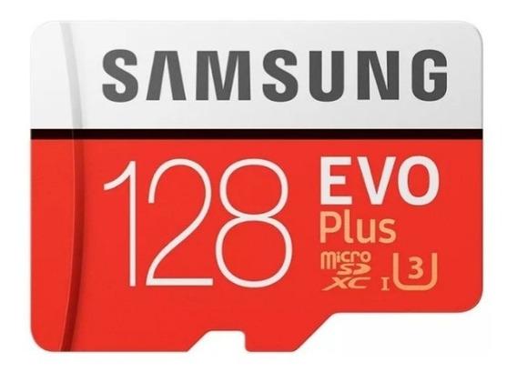 Cartão Samsung Micro Sd Evo Plus 128gb 100mb/s Uhs-3 4k Com Embalagem Lacrada