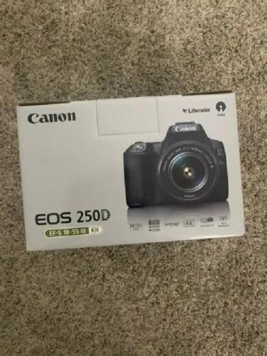 Cámara Réflex Digital Canon Eos 250d / Rebel Sl3 Con 18-55 M