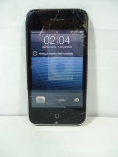 iPhone A1303 3gs - Funciona - Tela Quebrada