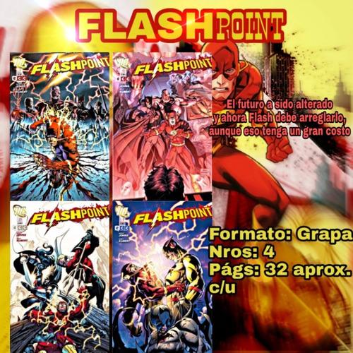 Flashpoint. Cómic Ecc Grapas. 4 Números