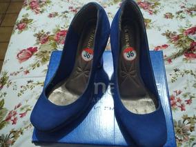 Sapato Salto Alto Azul