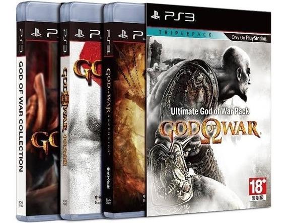 Coleção God Of War Ps3 Mídia Física - 3 Jogos Originais
