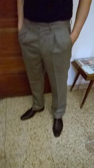 Pantalon De Vestir Con Pinzas Hombre