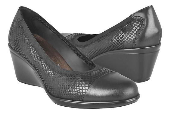 Zapatos Clásicos Para Dama Flexi 45503 Piel Negro
