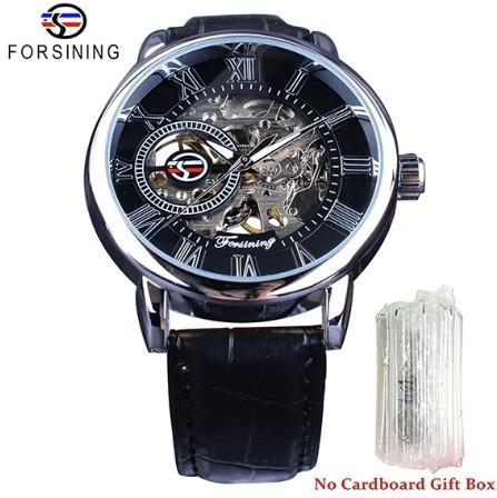 Relógio Masculino De Luxo Automático Original Couro Barato