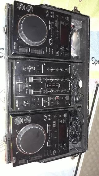 Par Cdj Pioneer 350 Mais Mixer Djm O Case Nao Esta Incluso