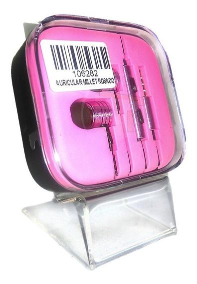 Audifonos Manos Libres Plus 3.5mm Millet Rosado