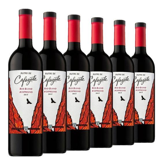 Vino Rutas De Cafayate Expresivo Red Blend Caja De 6 X750 Ml