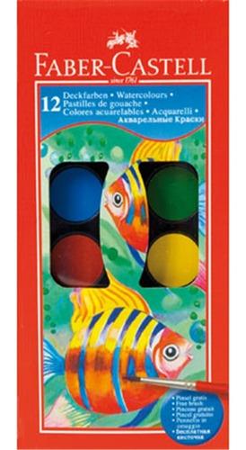 Acuarela Faber Castell X12 Colores Y Pincel