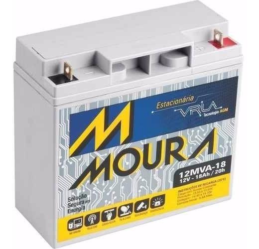 Bateria Moura Gp12170 No Break Apc Sms Nf Garantia 12mva-18