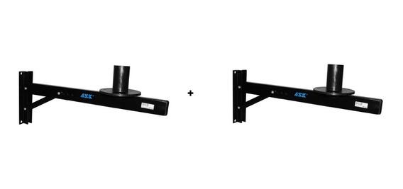 Suporte Pedestal Parede Ask Ch10 P/ Caixa Som Até 45kg Kit 2