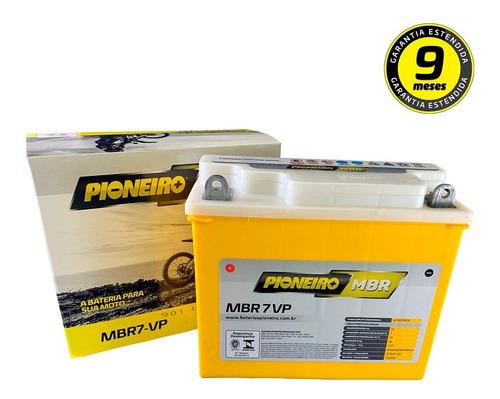 Imagem 1 de 4 de Bateria Agm Pioneiro Mbr7vp Honda Nx 350 Sahara 90/99