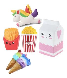 3 Squishy X $10.000 Modelo Milk, Squishy Popcorn, Unicornio