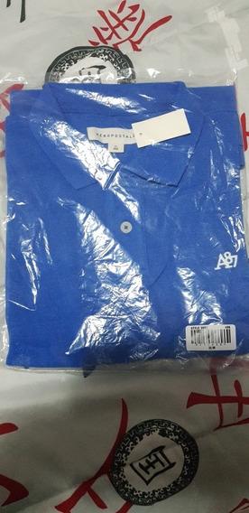 Camisa Polo - Aeropostale - Azul / Rosa - M/l