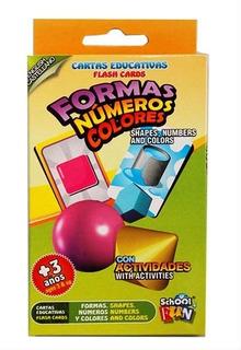 Cartas Educativas Formas Numeros Y Colores